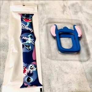 42mm Disney Stitch Apple Watch Band/Cover Combo